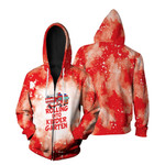Rolling into kinder garten firefighter red white drop painting 3D Designed Allover Gift For Firefighters Zip Hoodie
