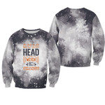 HWIC head witch in charge Smoke Black Drop Painting 3D Designed Allover Gift For Halloween Holiday Lovers Sweater
