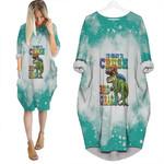 Back To School Im ready to crush 3rd grade Dinosaur 3D Designed Allover Gift For School Kids Batwing Pocket Dress