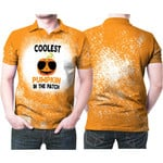 Coolest Pumpkin In The Patch Orange Drop Painting 3D Designed Allover Gift For Halloween Holiday Lovers Polo shirt