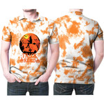 Trick Or Read Pumpkins A Witch Flying Night White Orange Drop Painting 3D Designed Allover Gift For Halloween Holiday Lovers Polo shirt