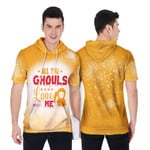Halloween All The Ghouls Love Me Death Orange 3D Designed Allover Gift For Halloween Holiday Lovers Short Sleeve Hoodie