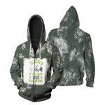 Teacher of the most spook tacular kids witch spider green 3d designed allover gift for Halloween holiday lovers Zip Hoodie