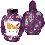 Boo Halloween Ghost Pumpkins Witch Purple White Drop Painting 3D Designed Allover Gift For Halloween Holiday Lovers Hoodie