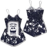 Trick And Treat Halloween Pumpkins Black Drop Painting 3D Designed Allover Gift For Halloween Holiday Lovers Romper Jumpsuit
