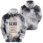 HWIC head witch in charge Smoke Black Drop Painting 3D Designed Allover Gift For Halloween Holiday Lovers Hoodie