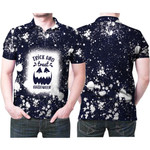 Trick And Treat Halloween Pumpkins Black Drop Painting 3D Designed Allover Gift For Halloween Holiday Lovers Polo shirt