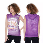 My favorite color is pumpkins space purple 3D Designed Allover Gift For Halloween Holiday Lovers Sleeveless Dress