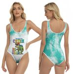 Back To School Im ready to crush 3rd grade Dinosaur 3D Designed Allover Gift For School Kids One Piece Swimsuit