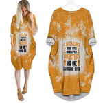 A Witch Lives Here with some little monsters and one landsome devil 3D Designed Allover gift for Halloween lovers Batwing Pocket Dress