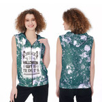 Every day is Halloween Isnt It For Some Of Us White Green Drop Painting 3D Designed Allover Gift For Halloween Holiday Lovers Zip Sleeveless Hoodie