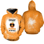 Coolest Pumpkin In The Patch Orange Drop Painting 3D Designed Allover Gift For Halloween Holiday Lovers Hoodie