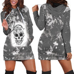 Halloween Funny Cats Made Skull Smoke Black 3D Designed Allover Gift For Halloween Holiday Lovers Hoodie Dress