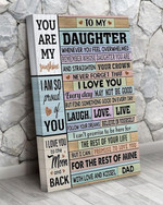 Letter from dad to my daughter you are my sunshine I love you for the rest of mine poster canvas gift for loved daughter Poster