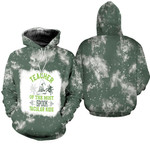 Teacher of the most spook tacular kids witch spider green 3d designed allover gift for Halloween holiday lovers Hoodie