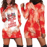 Rolling into kinder garten firefighter red white drop painting 3D Designed Allover Gift For Firefighters Hoodie Dress