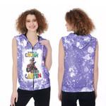 Back To School Im ready to crush Kinder Garten Dinosaur 3D Designed Allover Gift For School Kids Zip Sleeveless Hoodie