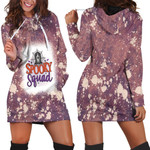 Spooky Squad Ghost Drop Painting Purple 3D Designed Allover Gift For Halloween Holiday Lovers Hoodie Dress