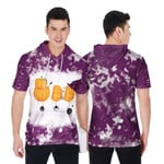 Boo Halloween Ghost Pumpkins Witch Purple White Drop Painting 3D Designed Allover Gift For Halloween Holiday Lovers Short Sleeve Hoodie