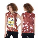 Teach Love Inspire Sunflower Vintage Red Drop Painting 3D Designed Allover Gift For Teachers Sleeveless Dress