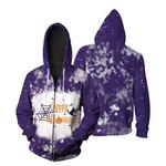 Happy Halloween Witch Pumpkins Purple 3D Designed Allover Gift For Halloween Holiday Lovers Zip Hoodie