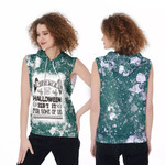 Every day is Halloween Isnt It For Some Of Us White Green Drop Painting 3D Designed Allover Gift For Halloween Holiday Lovers Sleeveless Dress