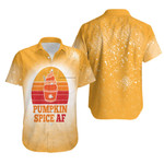 Pumpkin Spice AF Ice Cream Vintage Gold White Drop Painting 3D Designed Allover Gift For Halloween Holiday lovers Hawaiian Shirt