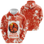 Trick Or Read Halloween Witch Orange White 3D Designed Allover Gift For Halloween Holiday Lovers Hoodie