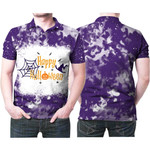 Happy Halloween Witch Pumpkins Purple 3D Designed Allover Gift For Halloween Holiday Lovers Polo shirt
