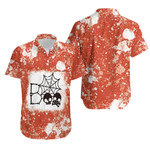 Boo Skull Skeleton Cute Halloween Spider Orange White Drop Painting 3D Designed Allover Gift For Halloween Holiday Lovers Hawaiian Shirt