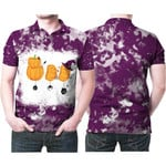 Boo Halloween Ghost Pumpkins Witch Purple White Drop Painting 3D Designed Allover Gift For Halloween Holiday Lovers Polo shirt