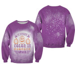 My favorite color is pumpkins space purple 3D Designed Allover Gift For Halloween Holiday Lovers Sweater