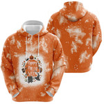 Happy Halloween Funny Witches Pumpkins Orange White Drop Painting 3D Designed Allover Gift For Halloween Holiday Lovers Hoodie