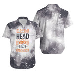 HWIC head witch in charge Smoke Black Drop Painting 3D Designed Allover Gift For Halloween Holiday Lovers Hawaiian Shirt