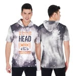 HWIC head witch in charge Smoke Black Drop Painting 3D Designed Allover Gift For Halloween Holiday Lovers Short Sleeve Hoodie
