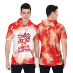 Rolling into kinder garten firefighter red white drop painting 3D Designed Allover Gift For Firefighters Short Sleeve Hoodie
