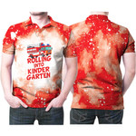 Rolling into kinder garten firefighter red white drop painting 3D Designed Allover Gift For Firefighters Polo shirt