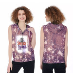 Spooky Squad Ghost Drop Painting Purple 3D Designed Allover Gift For Halloween Holiday Lovers Zip Sleeveless Hoodie