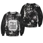 Halloween Coffee Drinking Skeleton Skull Smoke Black 3D Designed Allover Gift For Halloween Holiday Lovers Sweater