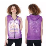 My favorite color is pumpkins space purple 3D Designed Allover Gift For Halloween Holiday Lovers Zip Sleeveless Hoodie
