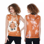 Happy Halloween Funny Witches Pumpkins Orange White Drop Painting 3D Designed Allover Gift For Halloween Holiday Lovers Sleeveless Dress