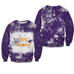 Happy Halloween Witch Pumpkins Purple 3D Designed Allover Gift For Halloween Holiday Lovers Sweater