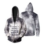 I just want eat pizza and watch horror movies 3D Designed Allover Gift For horror movies lovers Zip Hoodie