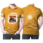 Halloween Time Night Castle Gold 3D Designed Allover Gift For Halloween Holiday Lovers Polo shirt