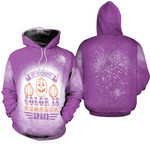 My favorite color is pumpkins space purple 3D Designed Allover Gift For Halloween Holiday Lovers Hoodie