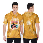 Halloween Time Night Castle Gold 3D Designed Allover Gift For Halloween Holiday Lovers Short Sleeve Hoodie