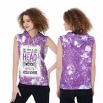HWIC head witch in charge White Purple Drop Painting 3D Designed Allover Gift For Halloween Holiday Lovers Sleeveless Dress