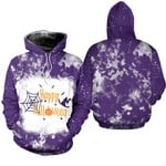 Happy Halloween Witch Pumpkins Purple 3D Designed Allover Gift For Halloween Holiday Lovers Hoodie