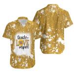 Teach Love Inspire Sunflower Vintage Gold Drop Painting 3D Designed Allover Gift For Teachers Hawaiian Shirt