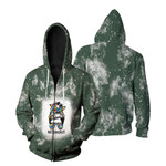 Autism Mom Life Lady Green Drop Painting 3D Designed Allover Gift For Autism Fighters Zip Hoodie